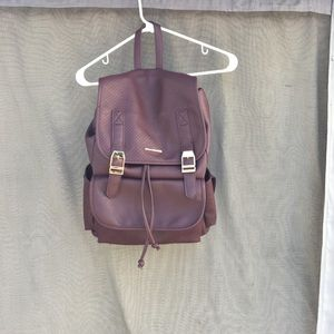 Burgundy backpack 🎒